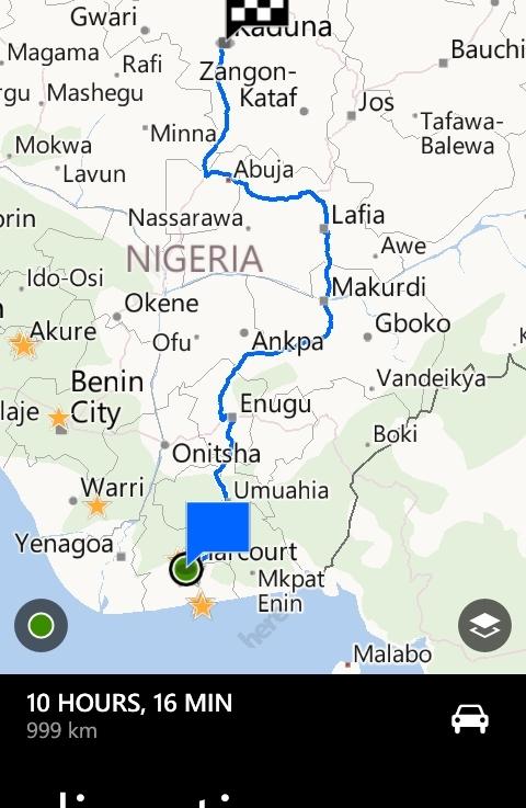 Journey to Kaduna