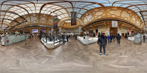 360 degrees view of one guild building's interior
