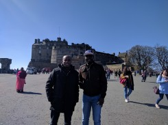 In front of Edinburgh Castle