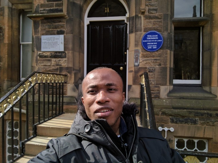 In front of Lord Kelvin's residence