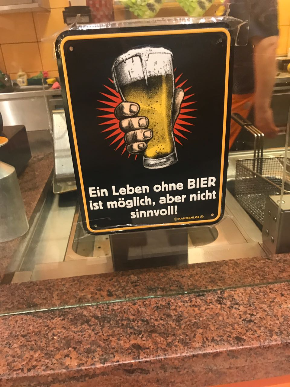"""Abimbola's translation: """"A life without beer is lovely but not sensible"""" ... Err, sorry Germans, I'll pass"""