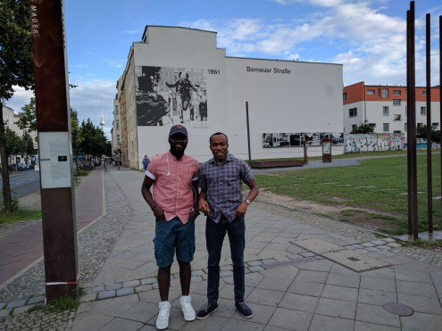 With Abimbola...at the Berlin Wall Memorial