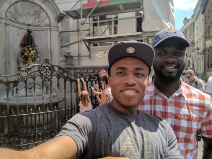 The Manneken Pis | We wondered if the cloth was placed on it because it was a Sunday