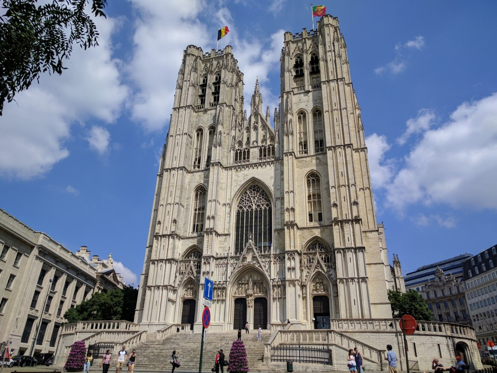 One of the imposing cathedrals in Brussels