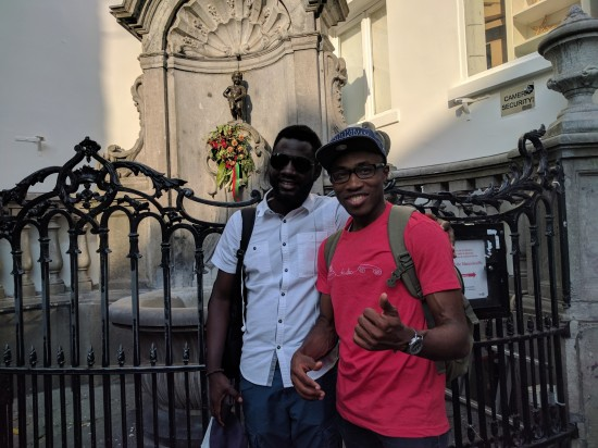 Back to the Manneken Pis | No covering cloth this time